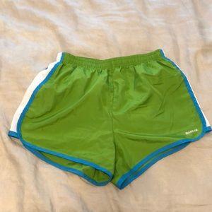 Reebok Green Running Shorts